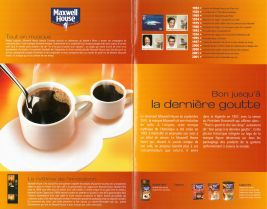 Pages brochure Kraft Foods, Plaisir chocolat, Esprit café