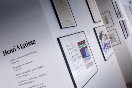Photo de l'exposition de Colin à Matisse